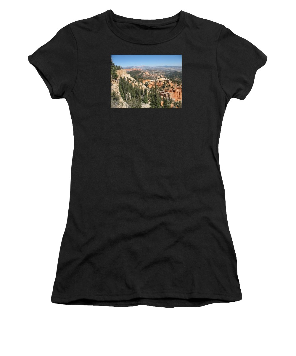 Rocks Women's T-Shirt (Athletic Fit) featuring the photograph Bryce Canyon Overlook by Christiane Schulze Art And Photography