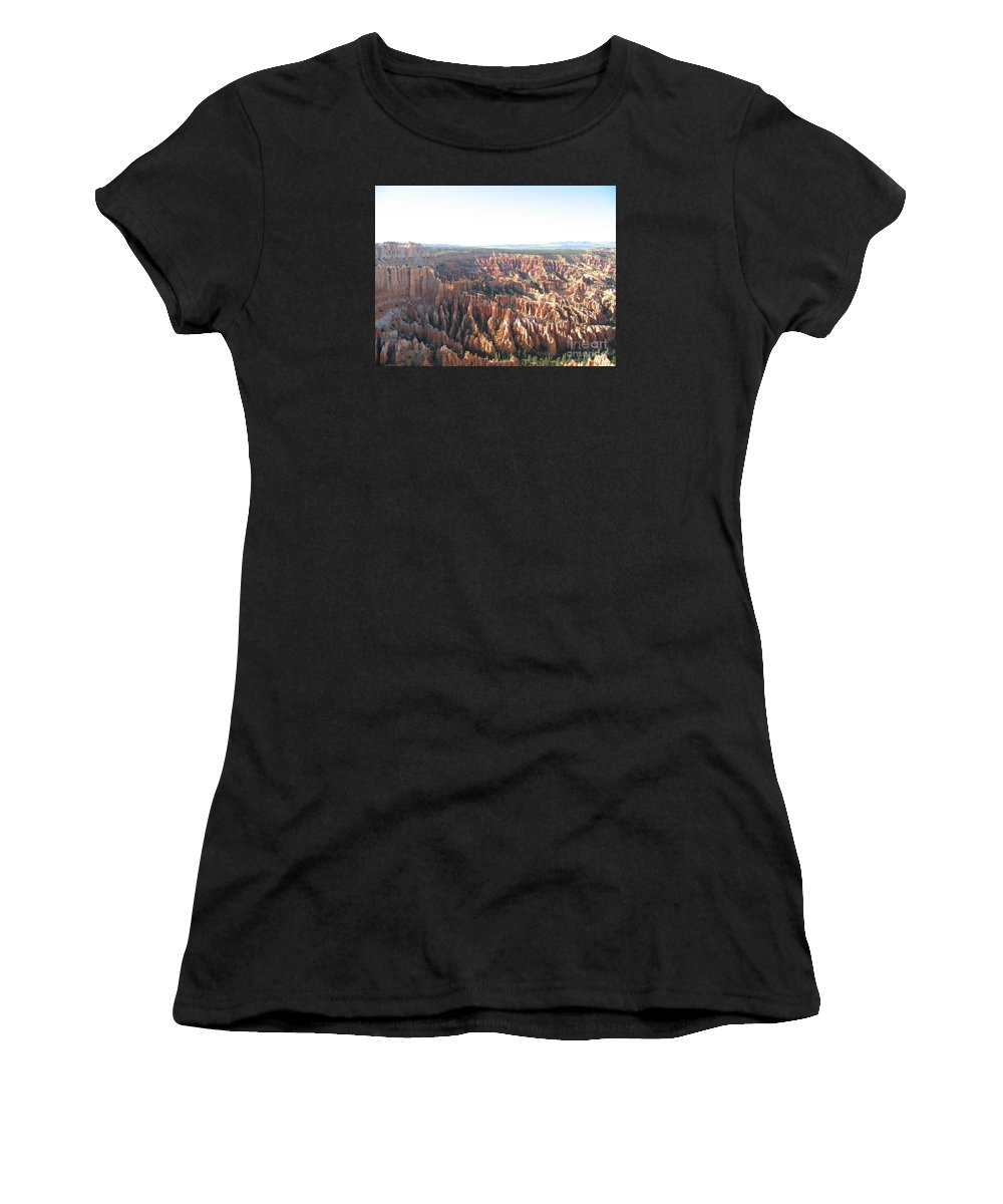 Rocks Women's T-Shirt (Athletic Fit) featuring the photograph Bryce Canyon Scenic Overlook by Christiane Schulze Art And Photography