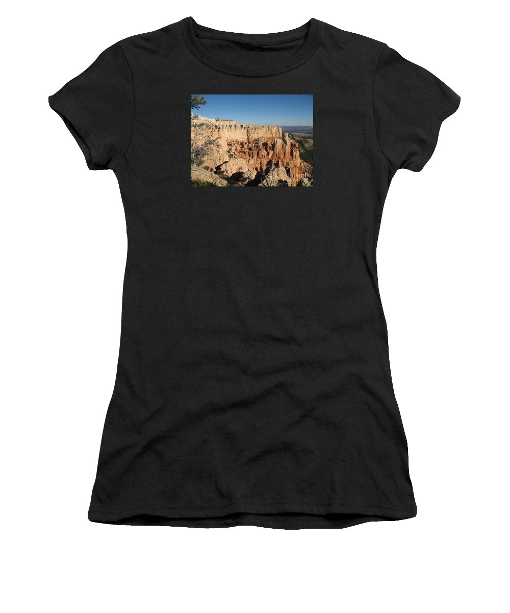 Rocks Women's T-Shirt (Athletic Fit) featuring the photograph Bryce Canyon Scenic View by Christiane Schulze Art And Photography