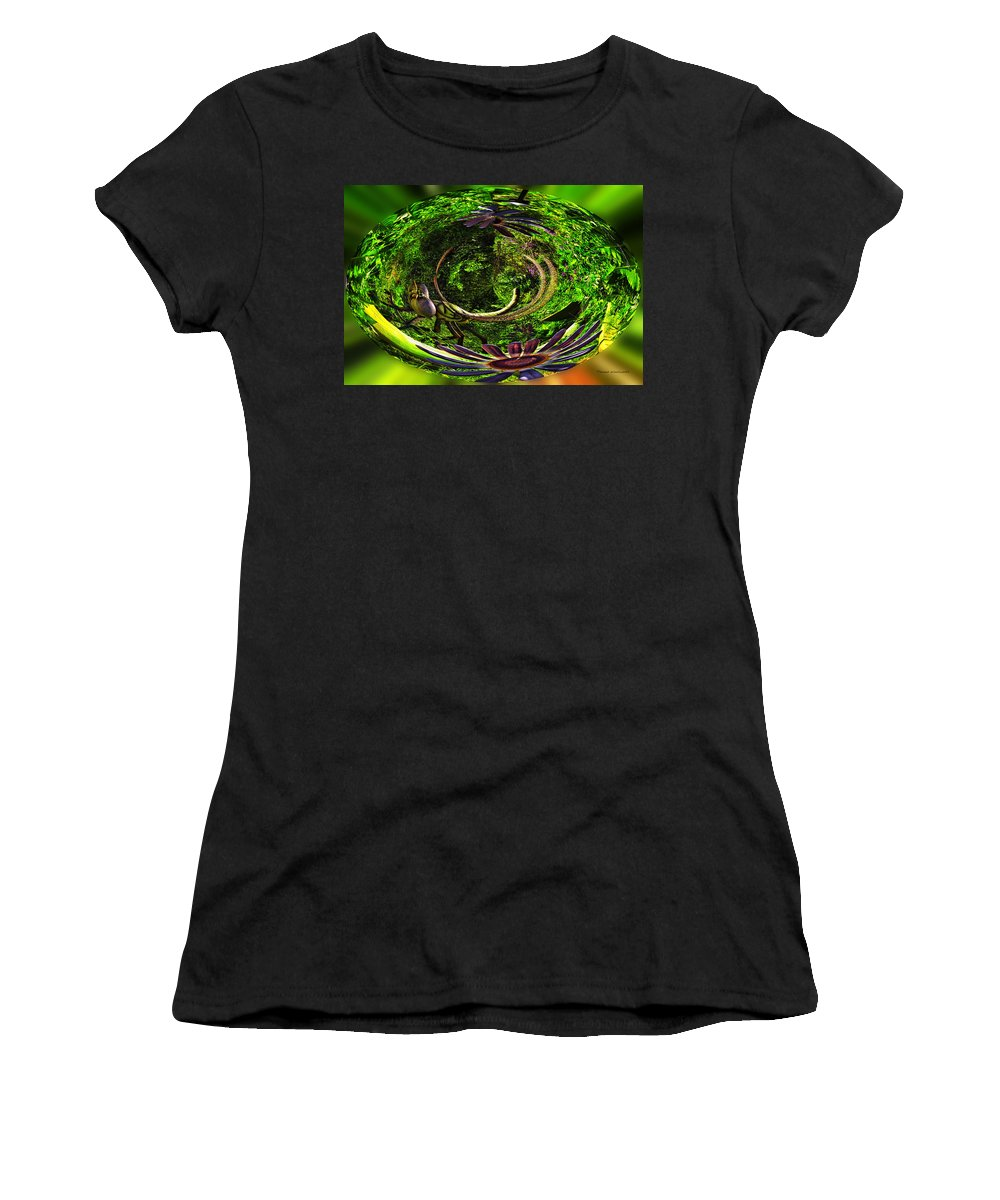 Brookfield Zoo Women's T-Shirt (Athletic Fit) featuring the photograph Bugs At The Zoo Dragonfly by Thomas Woolworth