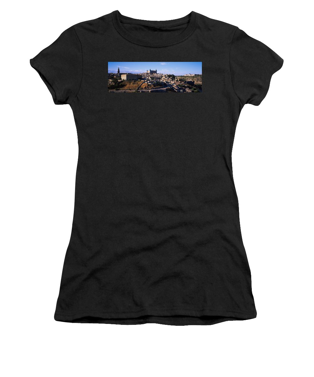 Photography Women's T-Shirt featuring the photograph Buildings In A City, Toledo, Toledo by Panoramic Images