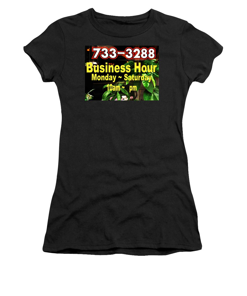 Business Hour Women's T-Shirt (Athletic Fit) featuring the photograph Business Hour by Randi Kuhne
