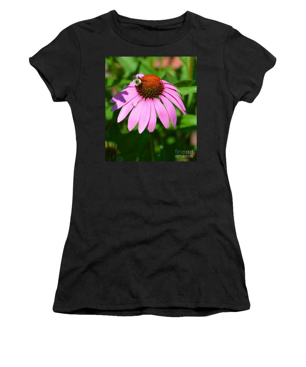 Flower Women's T-Shirt (Athletic Fit) featuring the photograph Busy Bee by Christine Dekkers