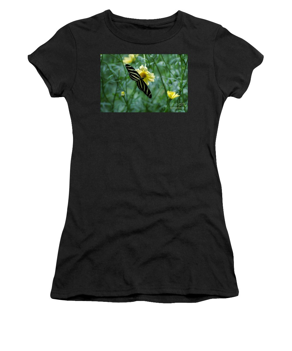 Butterfly Women's T-Shirt (Athletic Fit) featuring the photograph Butterfly 2 by Rich Priest