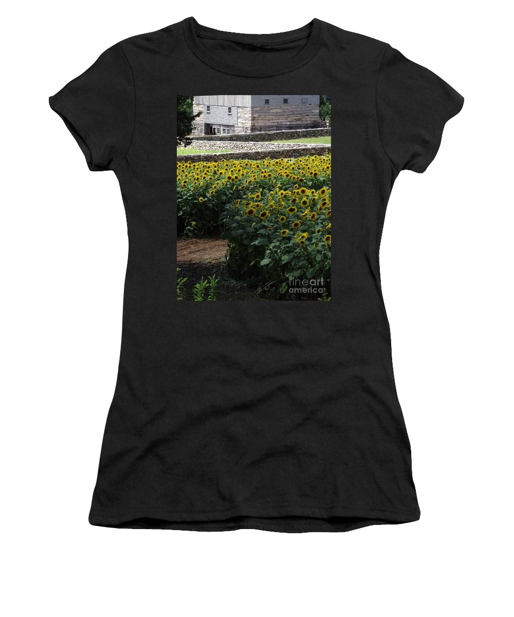 Buttonwood Farm Women's T-Shirt featuring the photograph Buttonwood by Michelle Welles