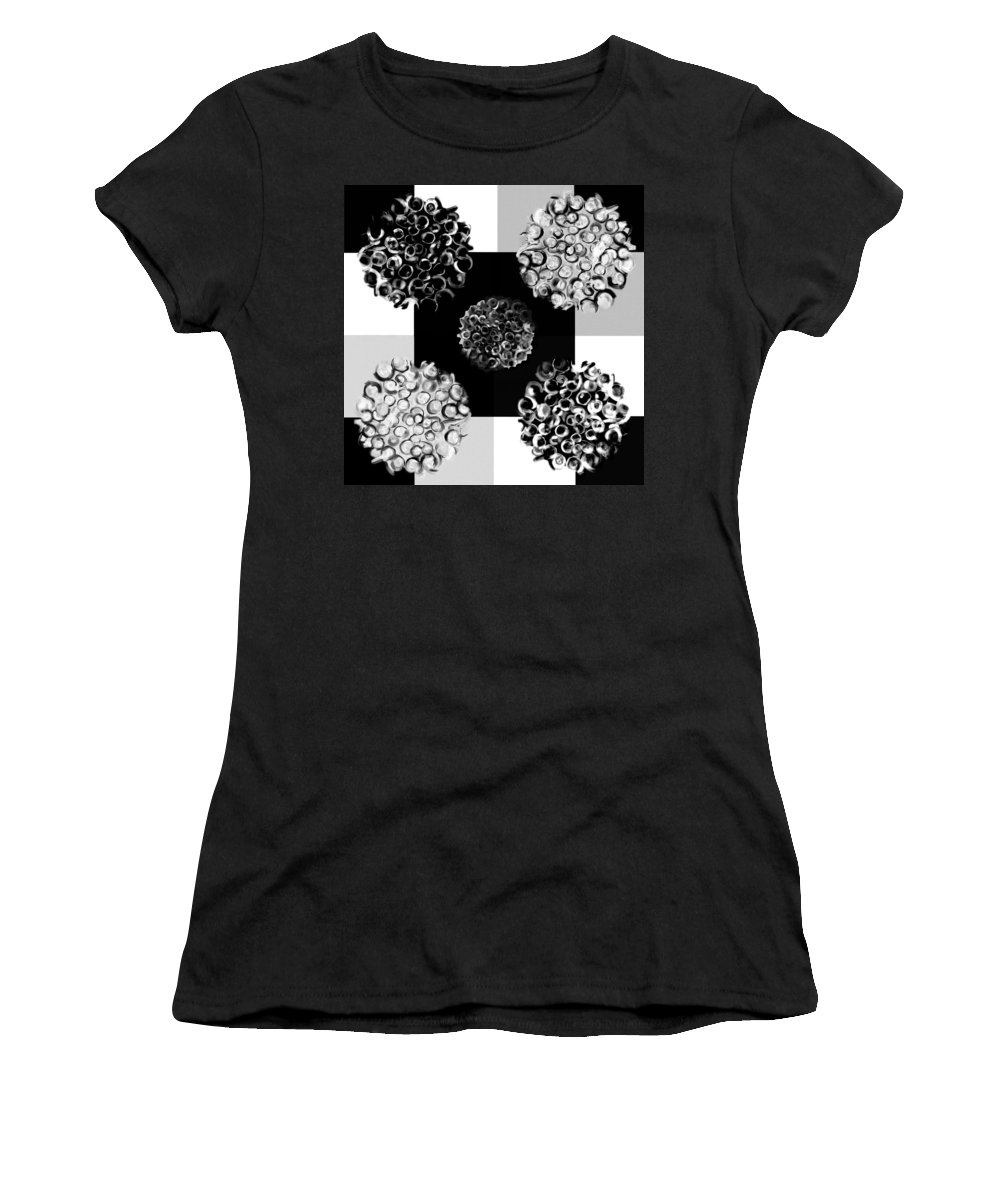 Abstract Women's T-Shirt featuring the digital art Bw Spreeze by Christine Fournier