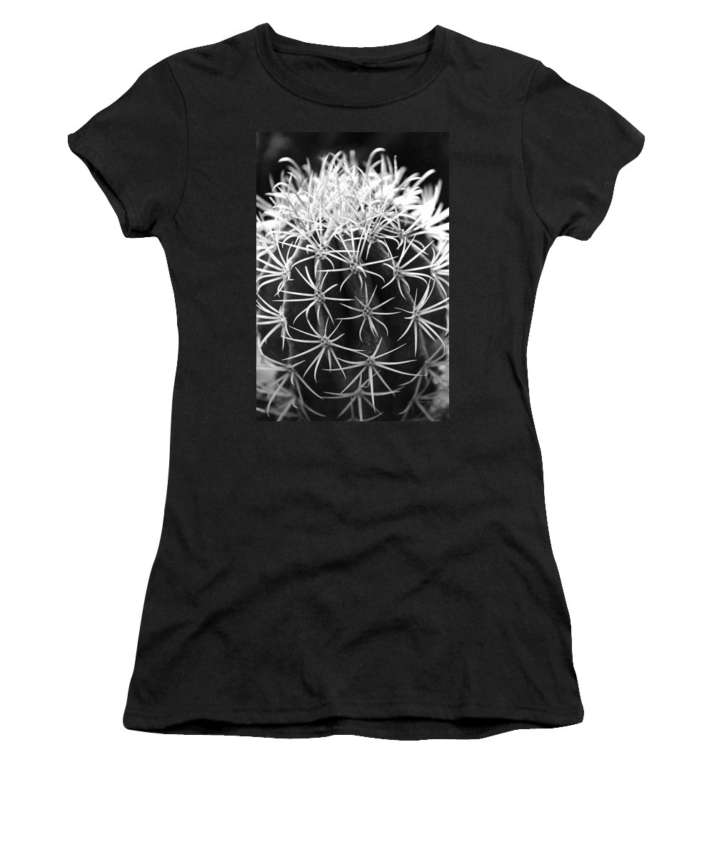 Cactus Women's T-Shirt featuring the photograph Cactus Thorn Pattern by Phyllis Denton