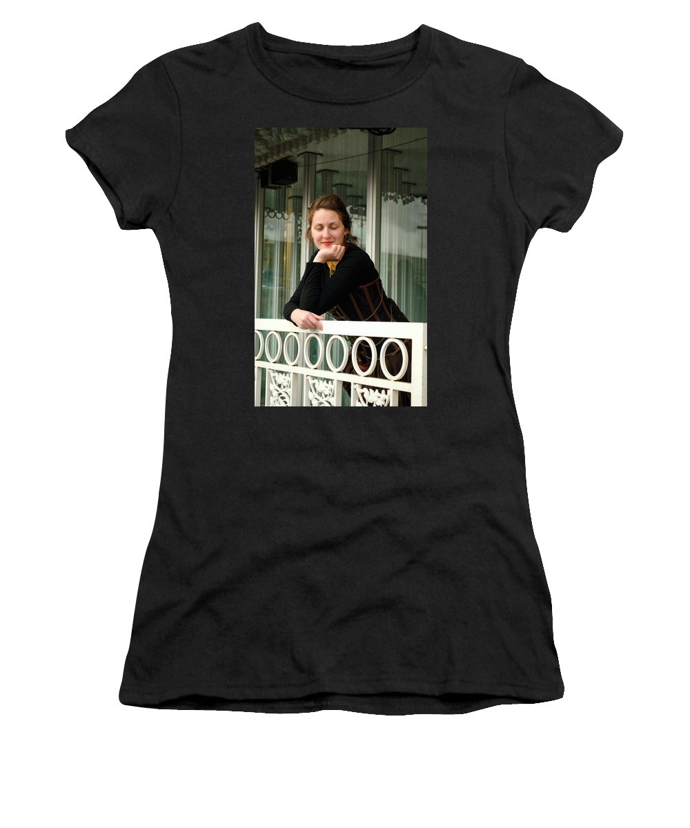 Calley Duvall Women's T-Shirt featuring the photograph Calley Taking It All In by Teri Schuster