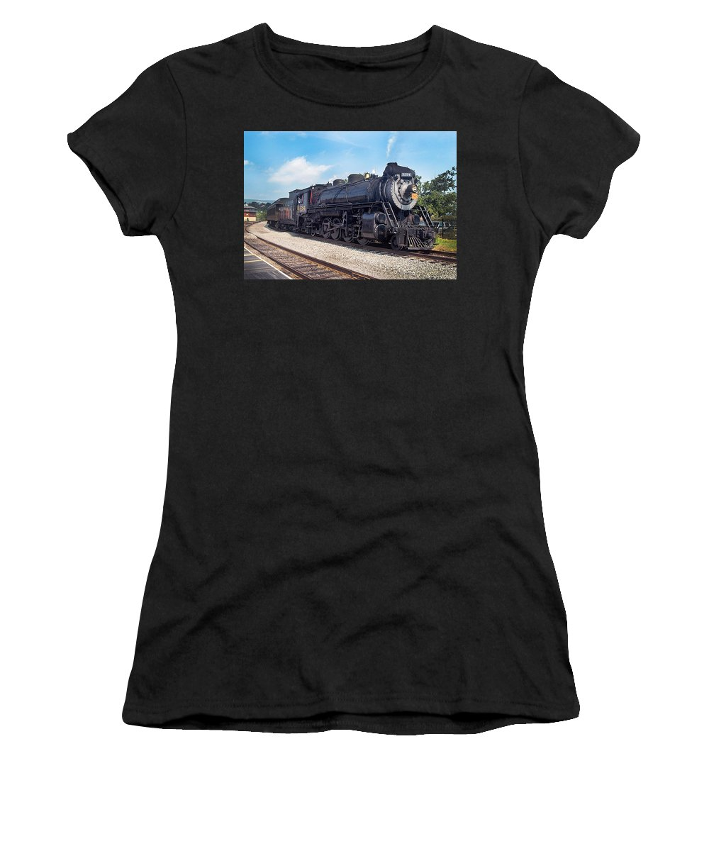 Railroad Women's T-Shirt featuring the photograph Canadian National 3254 by Paul W Faust - Impressions of Light