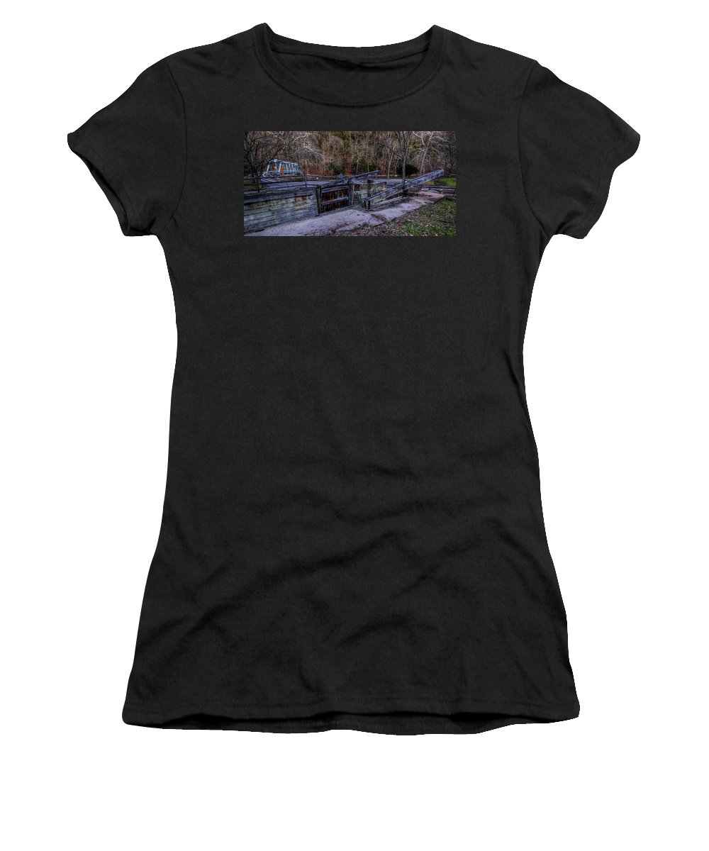 Canal Women's T-Shirt featuring the photograph Canal Lock 36 by David Dufresne