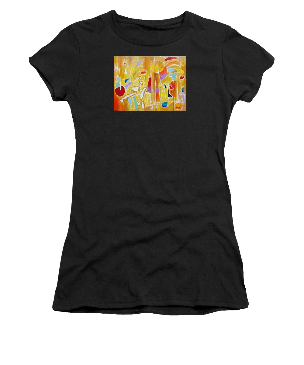 Abstract Women's T-Shirt featuring the painting Candy Shop Garnish by Jason Williamson