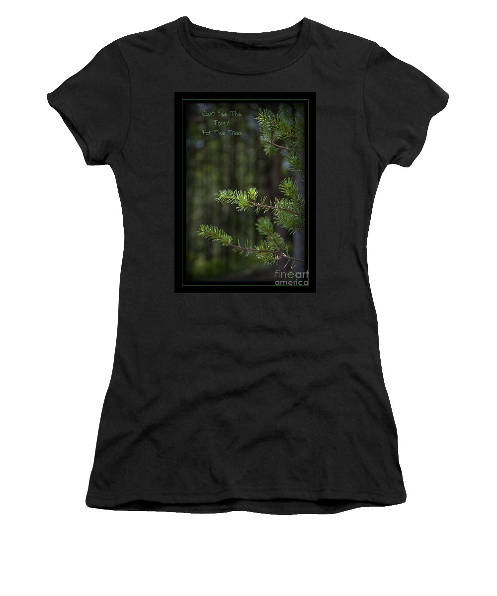 Forest Women's T-Shirt featuring the photograph Can't See The Forest For The Trees by John Stephens