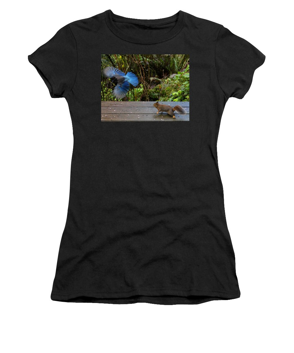 Mammals Women's T-Shirt featuring the photograph Can't We All Just Get Along? by Kym Backland