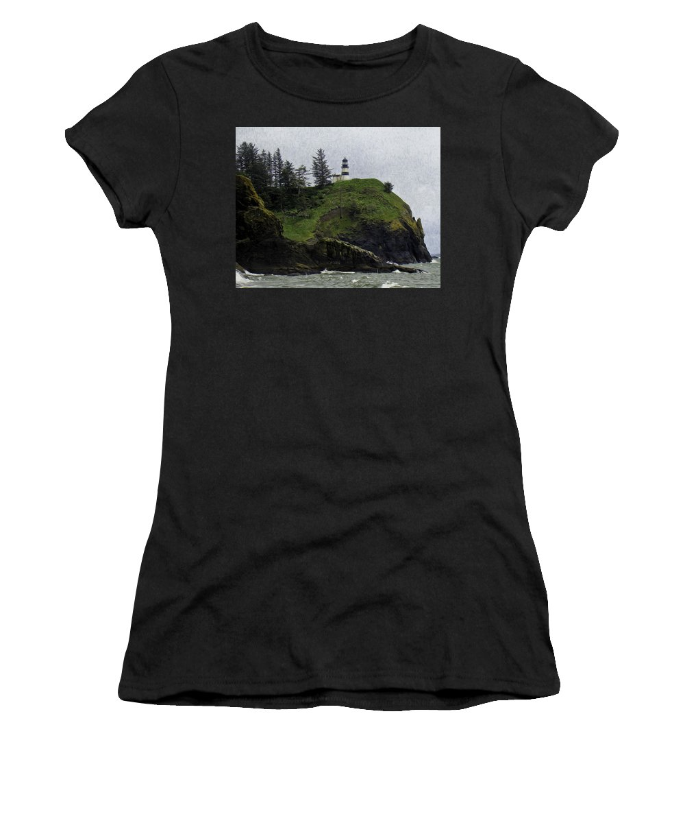 Cape Women's T-Shirt (Athletic Fit) featuring the photograph Cape Disappointment by James Ekstrom
