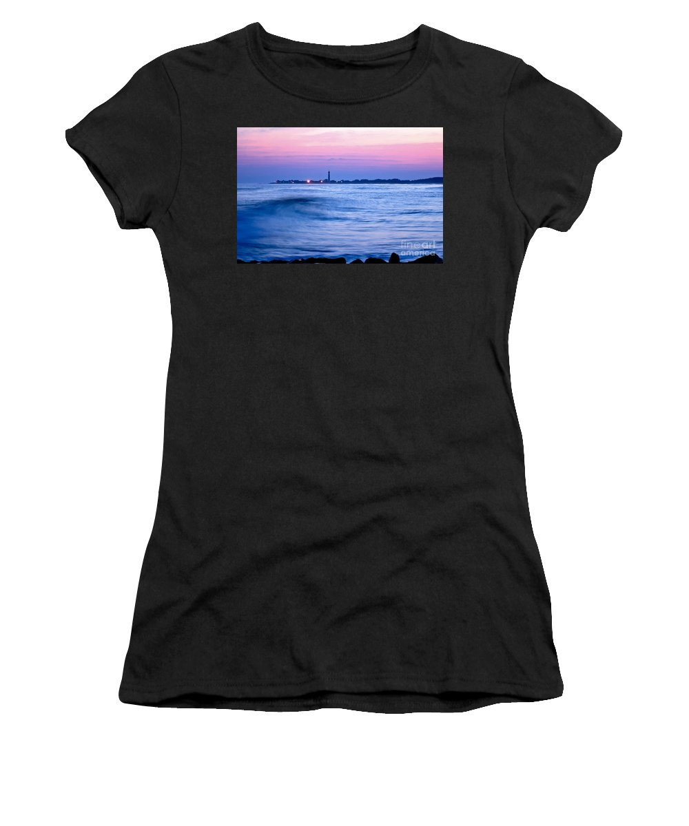 Sea Women's T-Shirt (Athletic Fit) featuring the photograph Cape May Seascape by Anthony Sacco