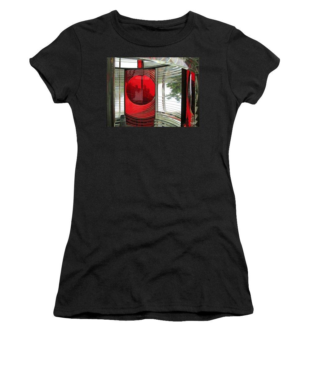 Red Women's T-Shirt featuring the photograph Cape Meares Light by Shanna Hyatt