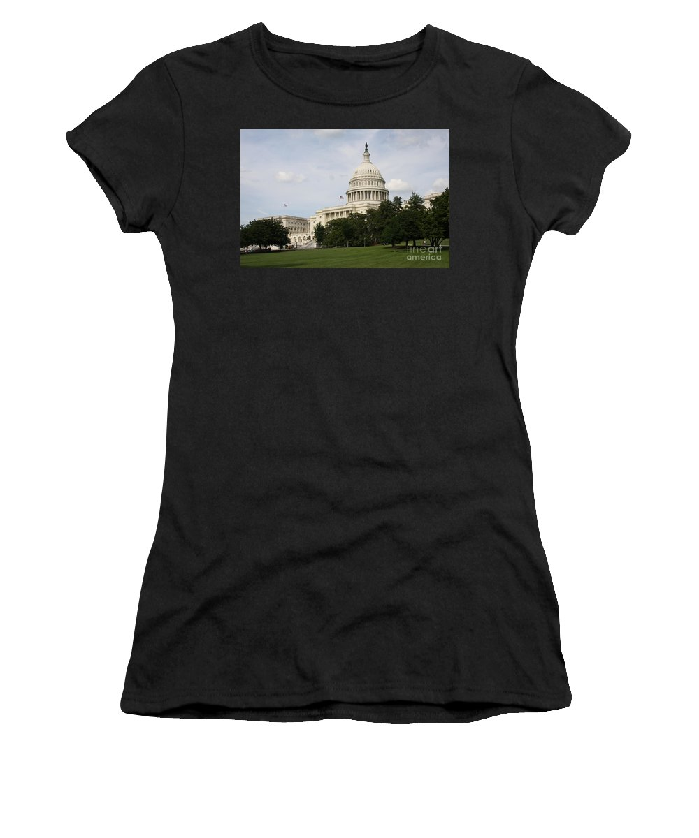 Capitol Women's T-Shirt featuring the photograph Capitol Hill Washington Dc by Christiane Schulze Art And Photography