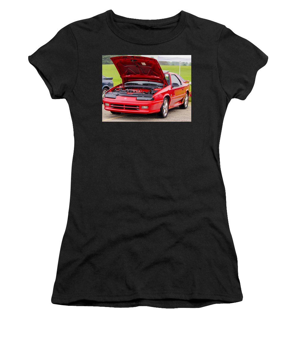 Dodge Daytona Iroc Rt Women's T-Shirt (Athletic Fit) featuring the photograph Car Show 021 by Josh Bryant