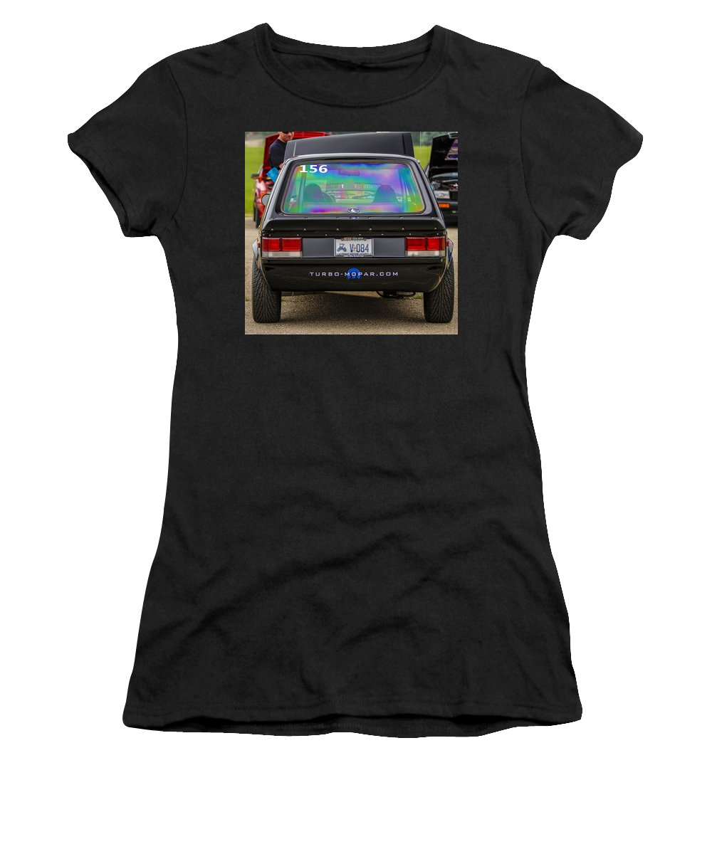 Dodge Omni Glh Turbo Women's T-Shirt (Athletic Fit) featuring the photograph Car Show 038 by Josh Bryant