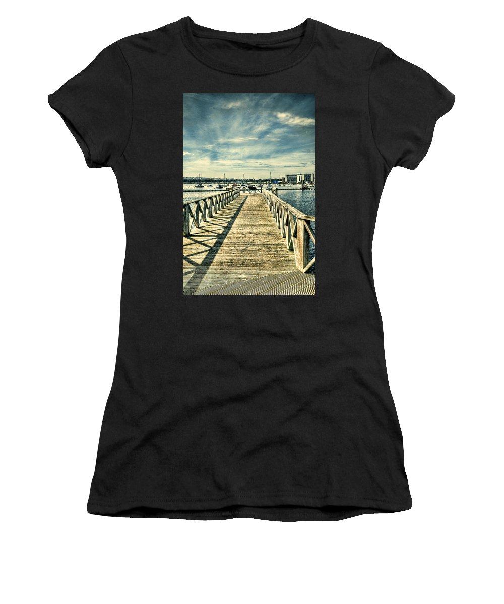 Cardiff Bay Wetlands Women's T-Shirt featuring the photograph Cardiff Bay Wetlands 2 by Steve Purnell