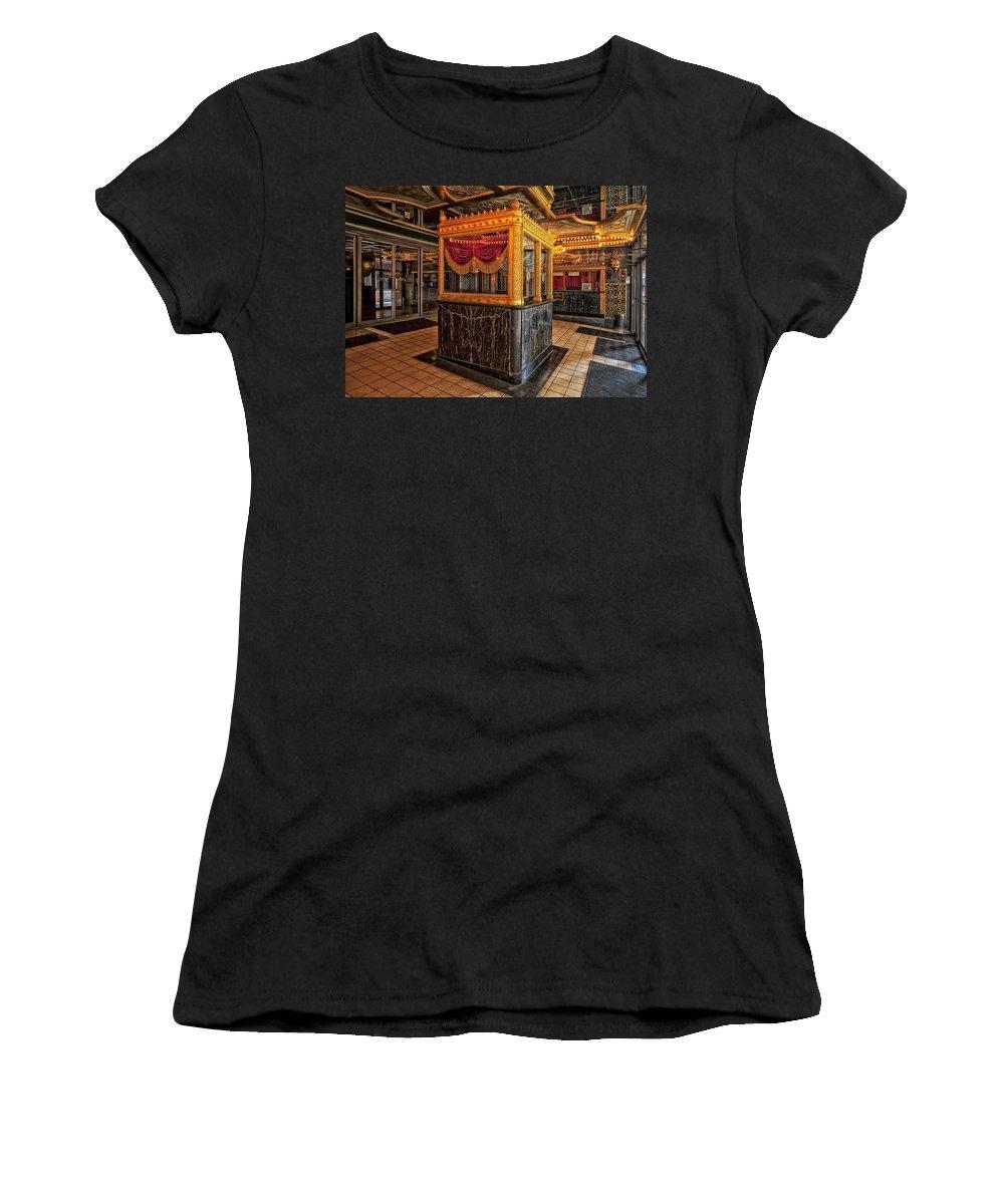 Birmingham Women's T-Shirt featuring the photograph Carver Theatre Box Office - Birmingham Alabama by Mountain Dreams