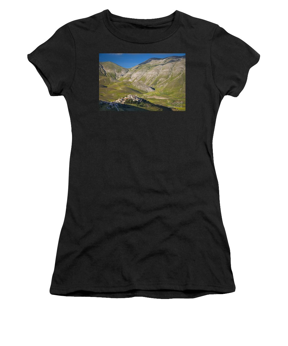 Castelluccio Women's T-Shirt (Athletic Fit) featuring the photograph Castelluccio by Brian Jannsen