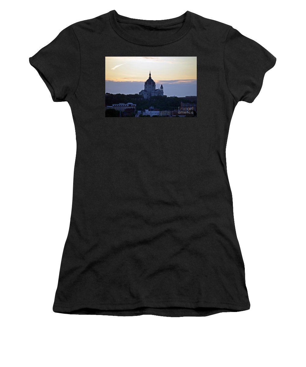 Cathedral Of Saint Paul Women's T-Shirt (Athletic Fit) featuring the photograph Cathedral Of Saint Paul by Amanda Hilden
