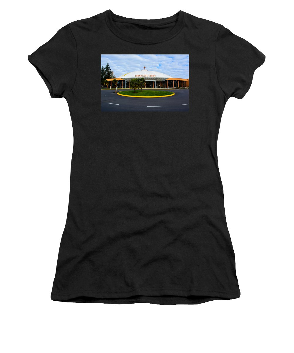 Champions Centre Church Women's T-Shirt (Athletic Fit) featuring the photograph Champions Center by Tikvah's Hope