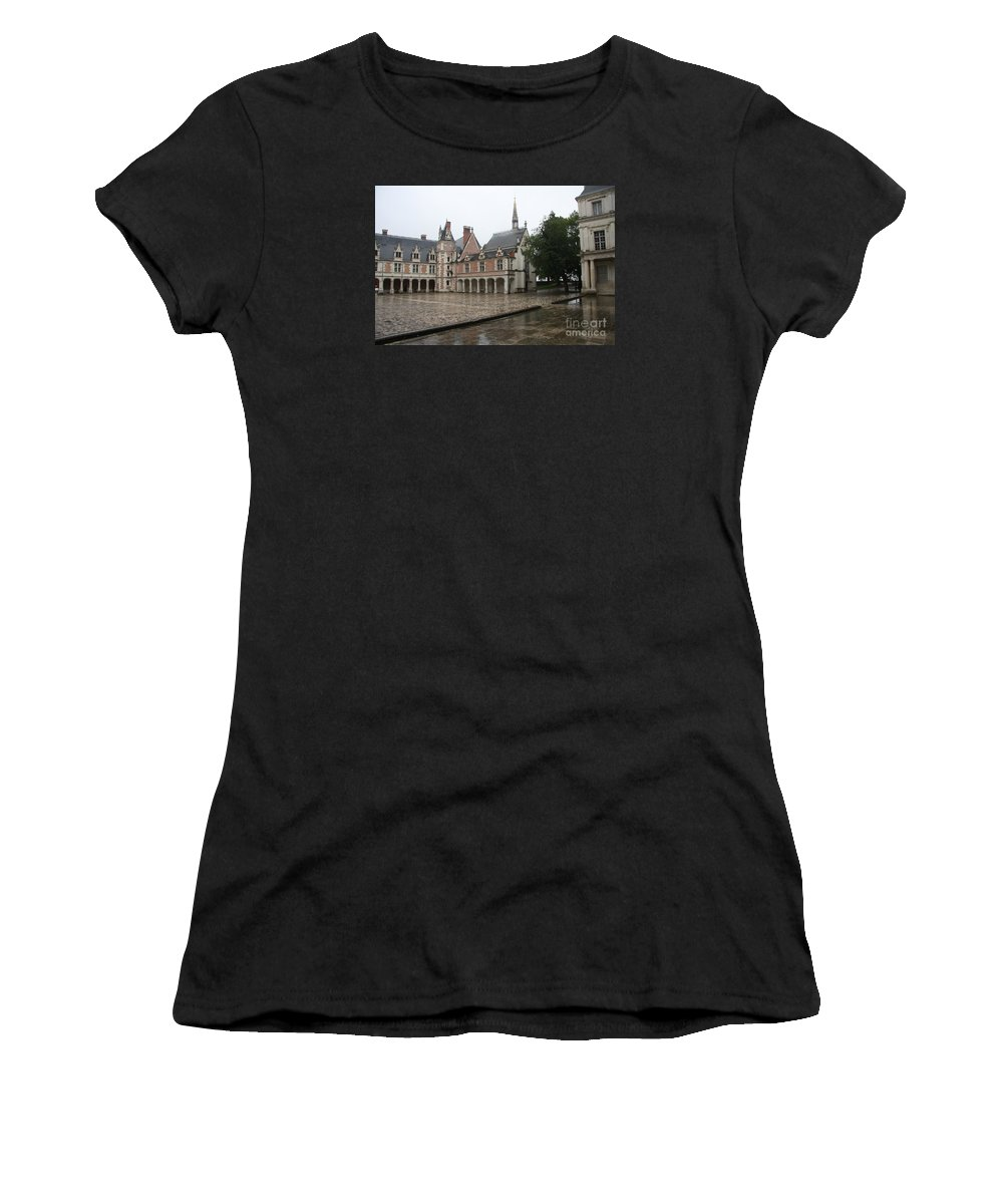 Palace Women's T-Shirt featuring the photograph Chapel And Courtyard Chateau Blois by Christiane Schulze Art And Photography