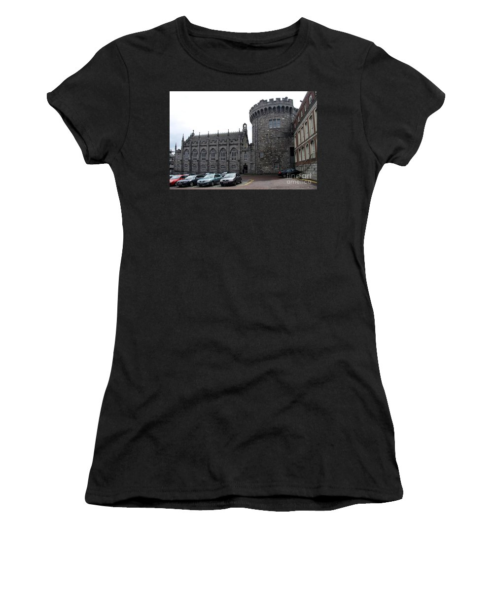 Women's T-Shirt (Athletic Fit) featuring the photograph Chapel Royal And Record Tower - Dublin Castle by Christiane Schulze Art And Photography