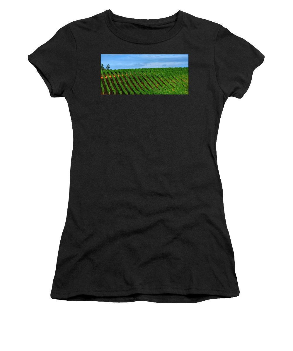 Hdr Women's T-Shirt featuring the photograph Chardonnay Sky 17990 by Jerry Sodorff