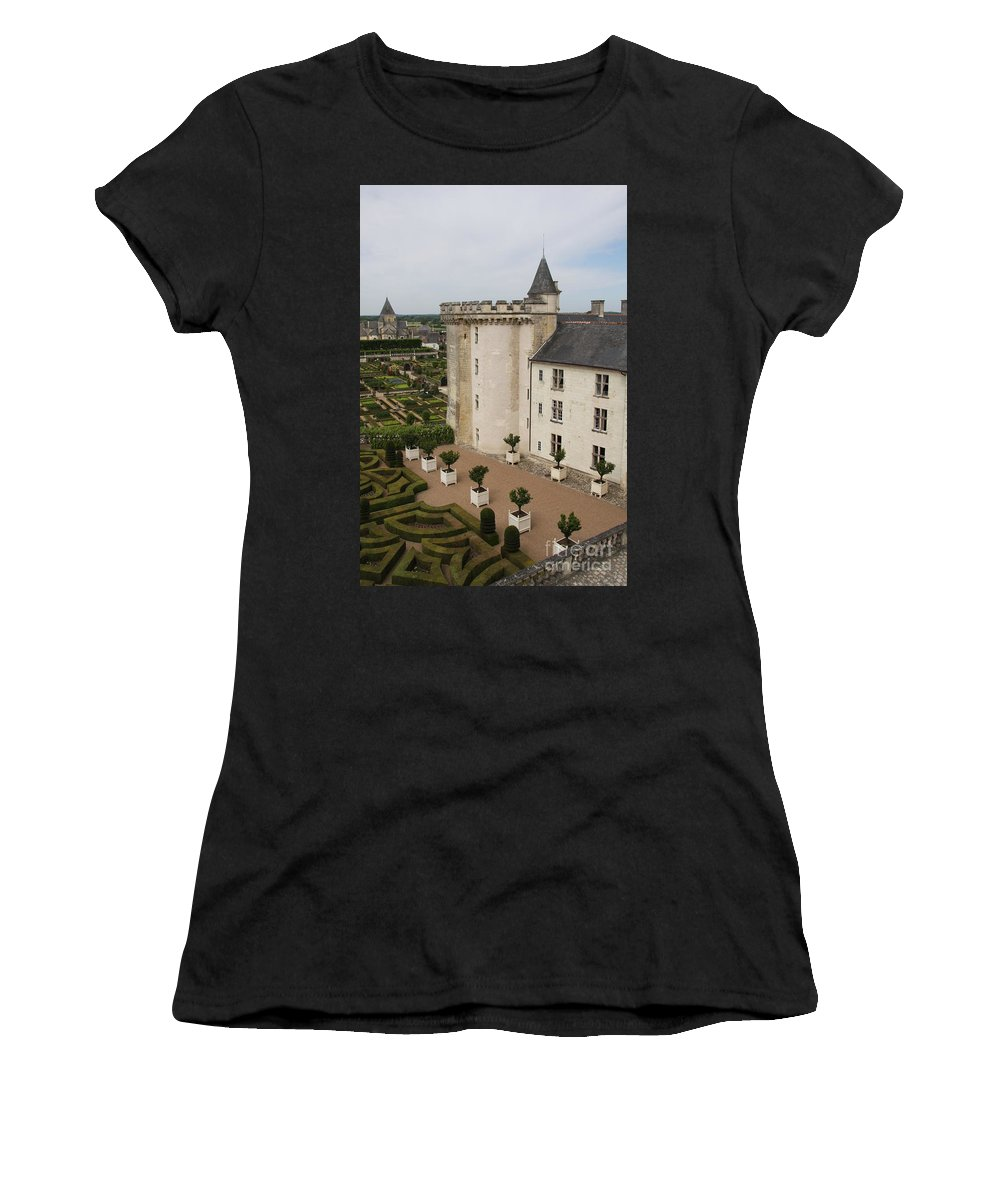 Palace Women's T-Shirt (Athletic Fit) featuring the photograph Chateau And Garden - Villandry by Christiane Schulze Art And Photography