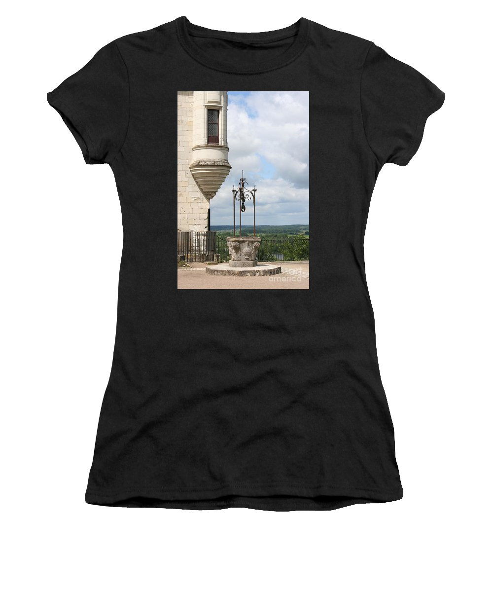 Baywindow Women's T-Shirt (Athletic Fit) featuring the photograph Chateau Baywindow And Well by Christiane Schulze Art And Photography