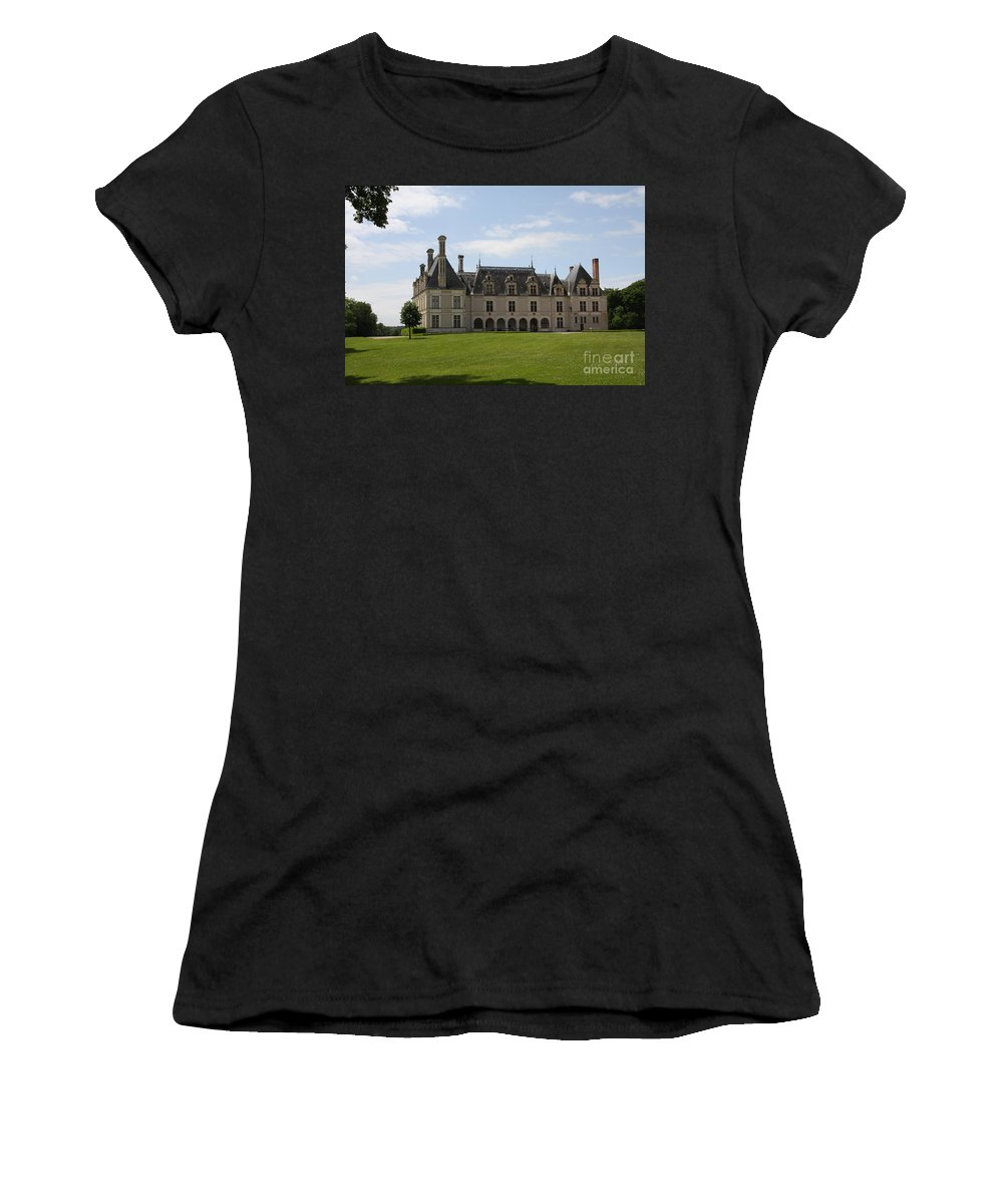 Palace Women's T-Shirt (Athletic Fit) featuring the photograph Chateau Beauregard Loire Valley by Christiane Schulze Art And Photography