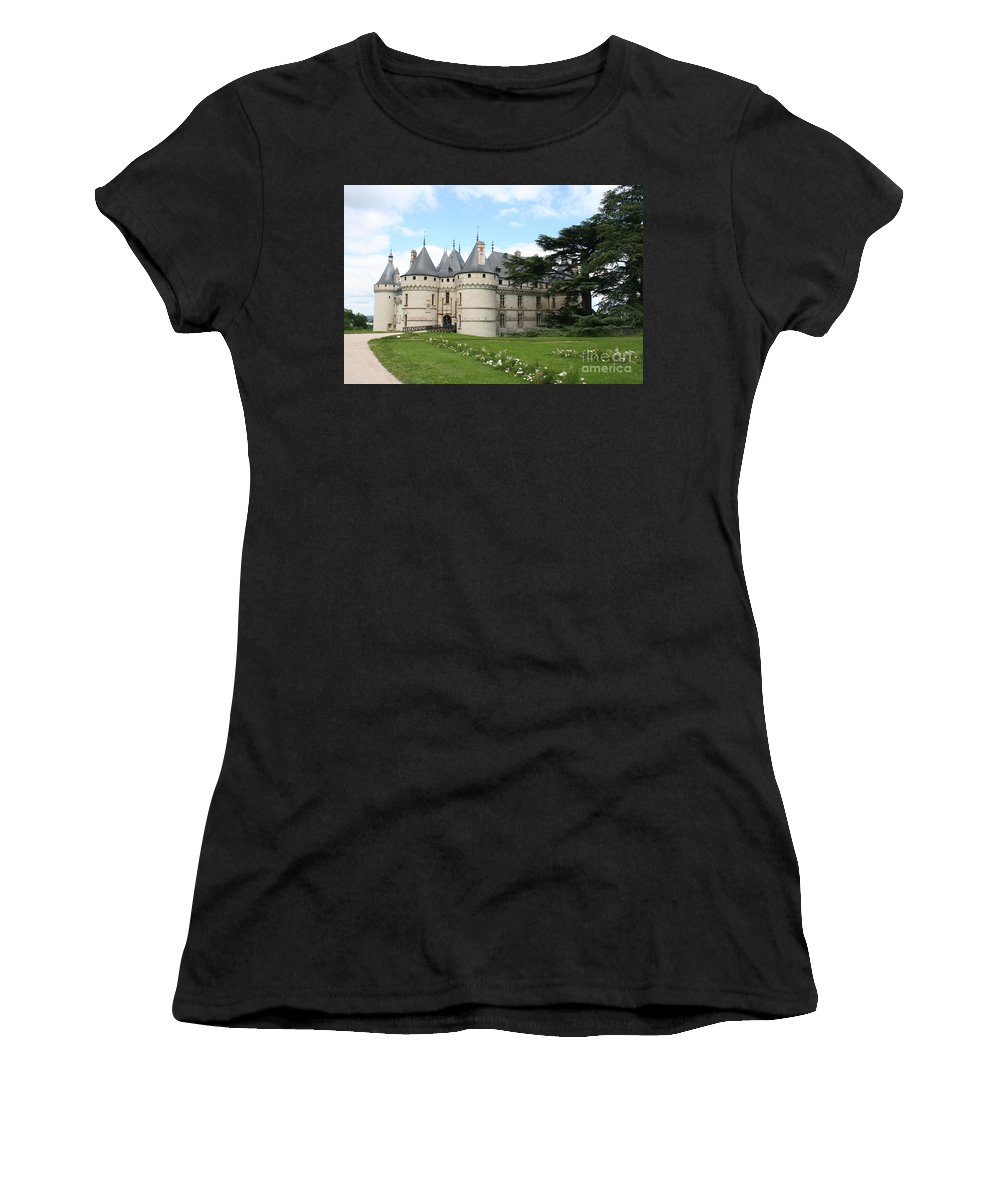 Palace Women's T-Shirt (Athletic Fit) featuring the photograph Chateau Chaumont From The Garden by Christiane Schulze Art And Photography