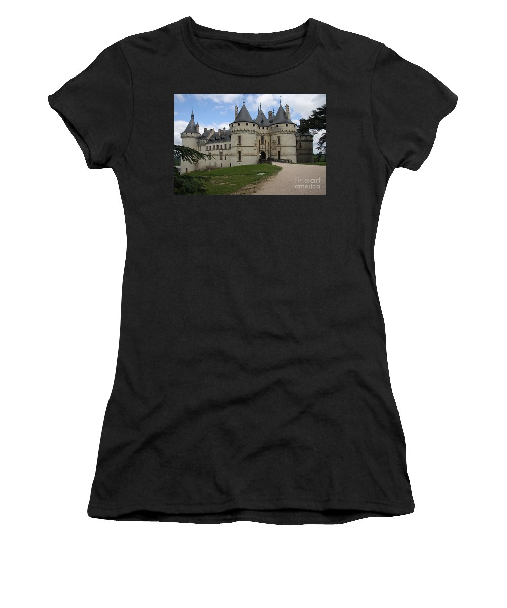 Palace Women's T-Shirt featuring the photograph Chateau Chaumont Steeples by Christiane Schulze Art And Photography