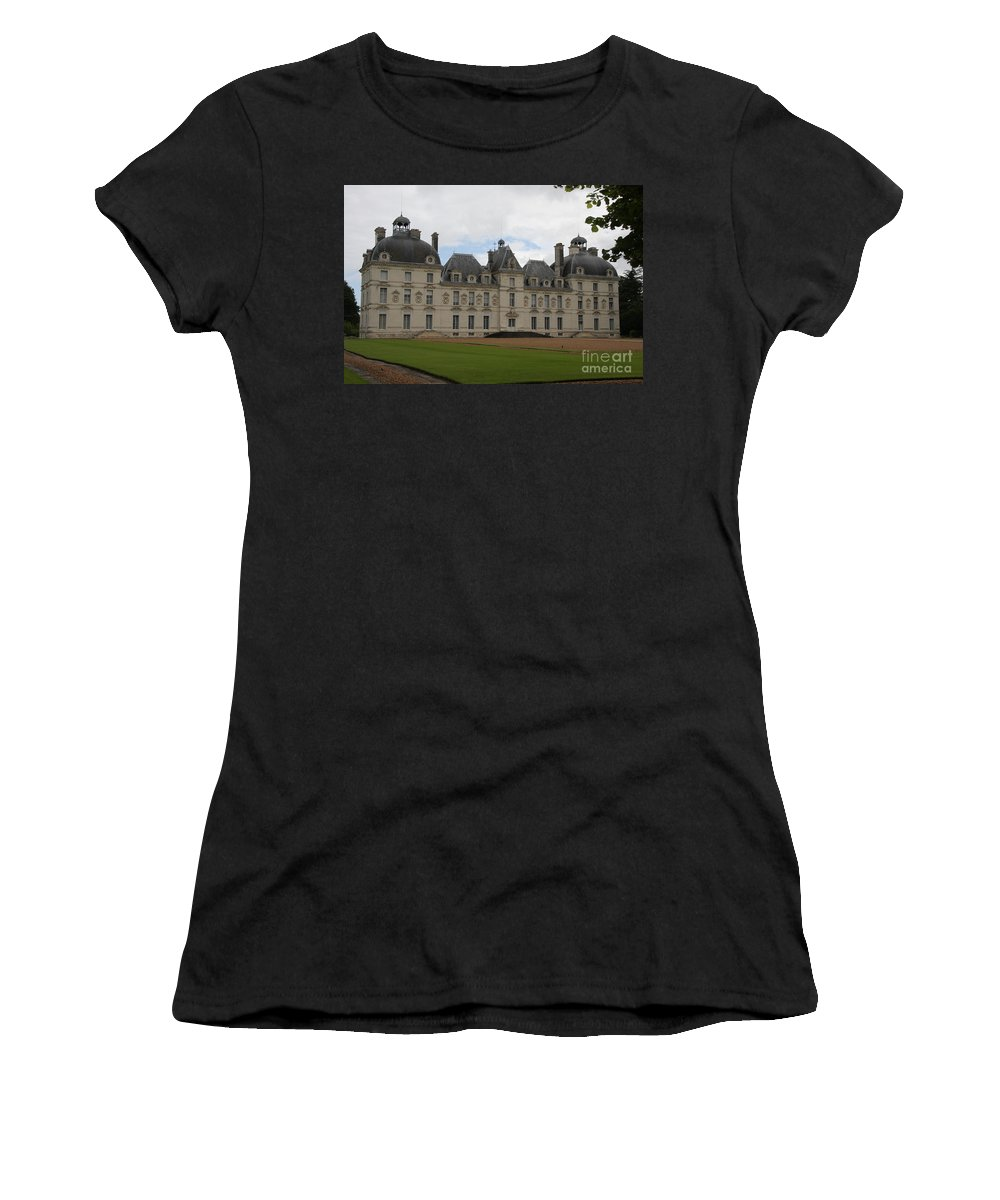 Palace Women's T-Shirt (Athletic Fit) featuring the photograph Chateau Cheverney - Front View by Christiane Schulze Art And Photography