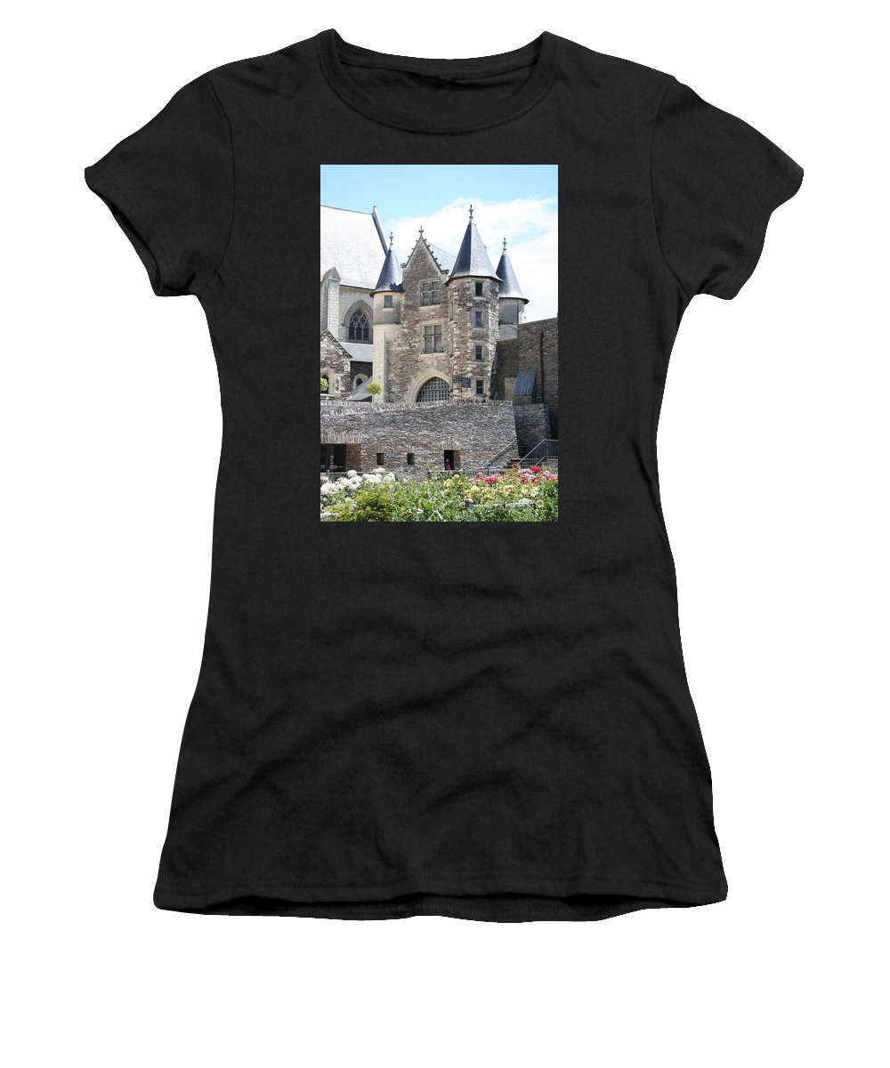Castle Women's T-Shirt (Athletic Fit) featuring the photograph Chateau D'angers - Chatelet by Christiane Schulze Art And Photography