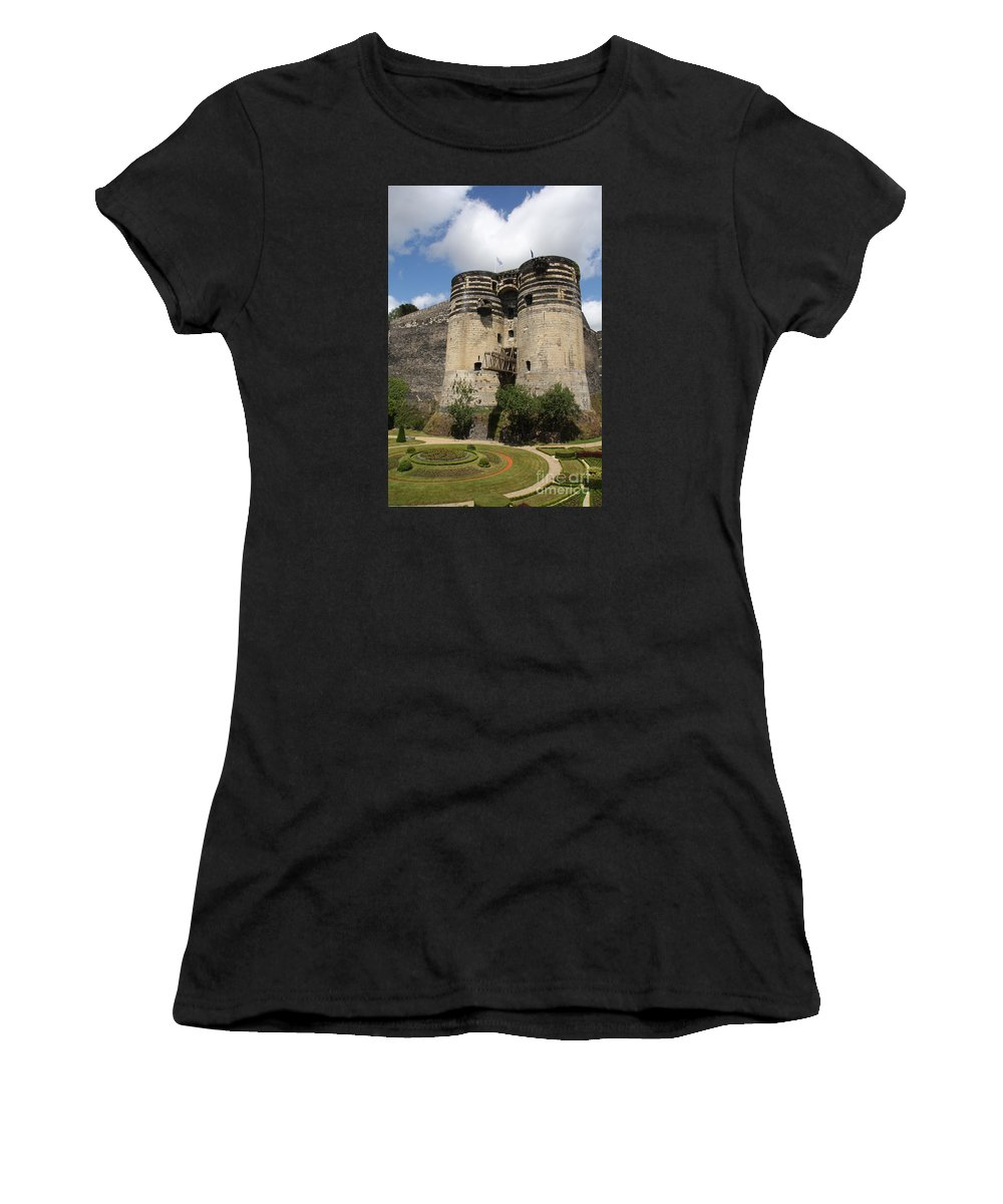 Castle Women's T-Shirt featuring the photograph Chateau D'angers - France by Christiane Schulze Art And Photography