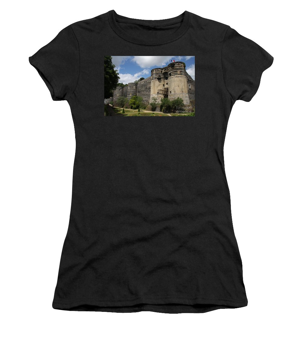 Castle Women's T-Shirt featuring the photograph Chateau D'angers - The Keep by Christiane Schulze Art And Photography