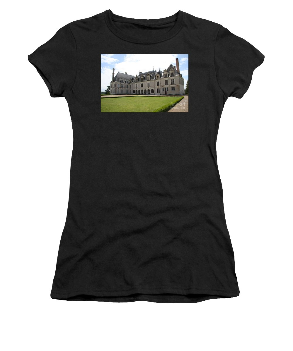 Palace Women's T-Shirt (Athletic Fit) featuring the photograph Chateau De Beauregard Loire Valley by Christiane Schulze Art And Photography