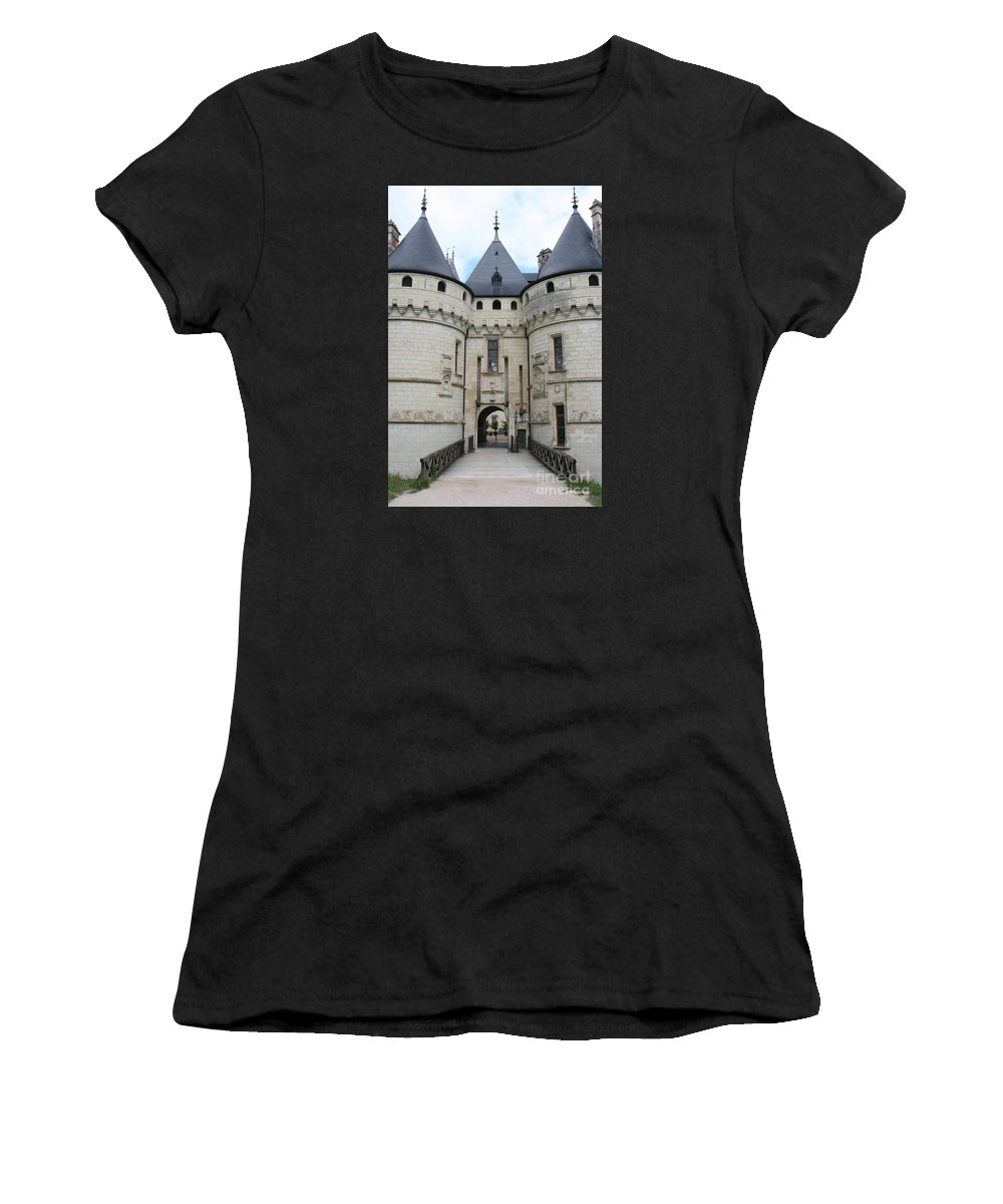 Palace Women's T-Shirt (Athletic Fit) featuring the photograph Chateau De Chaumont - France by Christiane Schulze Art And Photography