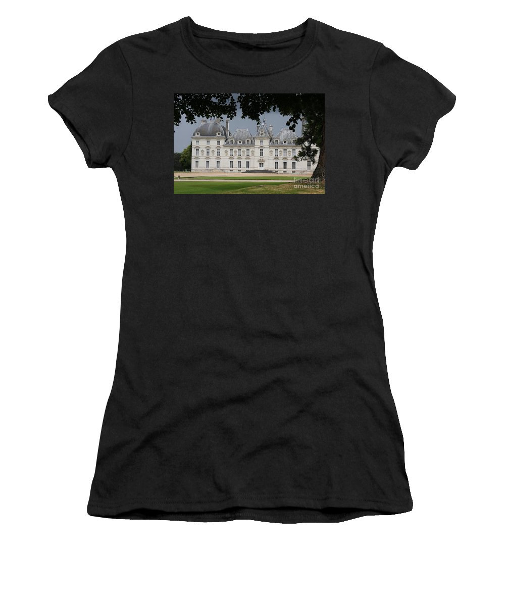 Palace Women's T-Shirt (Athletic Fit) featuring the photograph Chateau De Cheverny - France by Christiane Schulze Art And Photography
