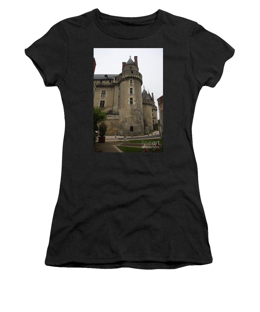 Castle Women's T-Shirt (Athletic Fit) featuring the photograph Chateau De Langeais - France by Christiane Schulze Art And Photography