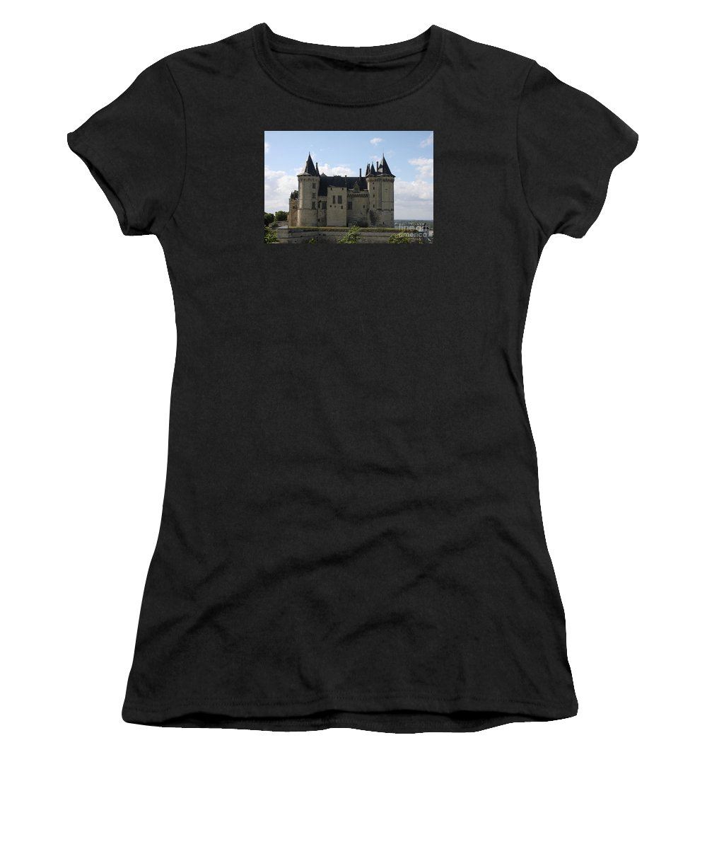 Castle Women's T-Shirt (Athletic Fit) featuring the photograph Chateau Saumur - France by Christiane Schulze Art And Photography