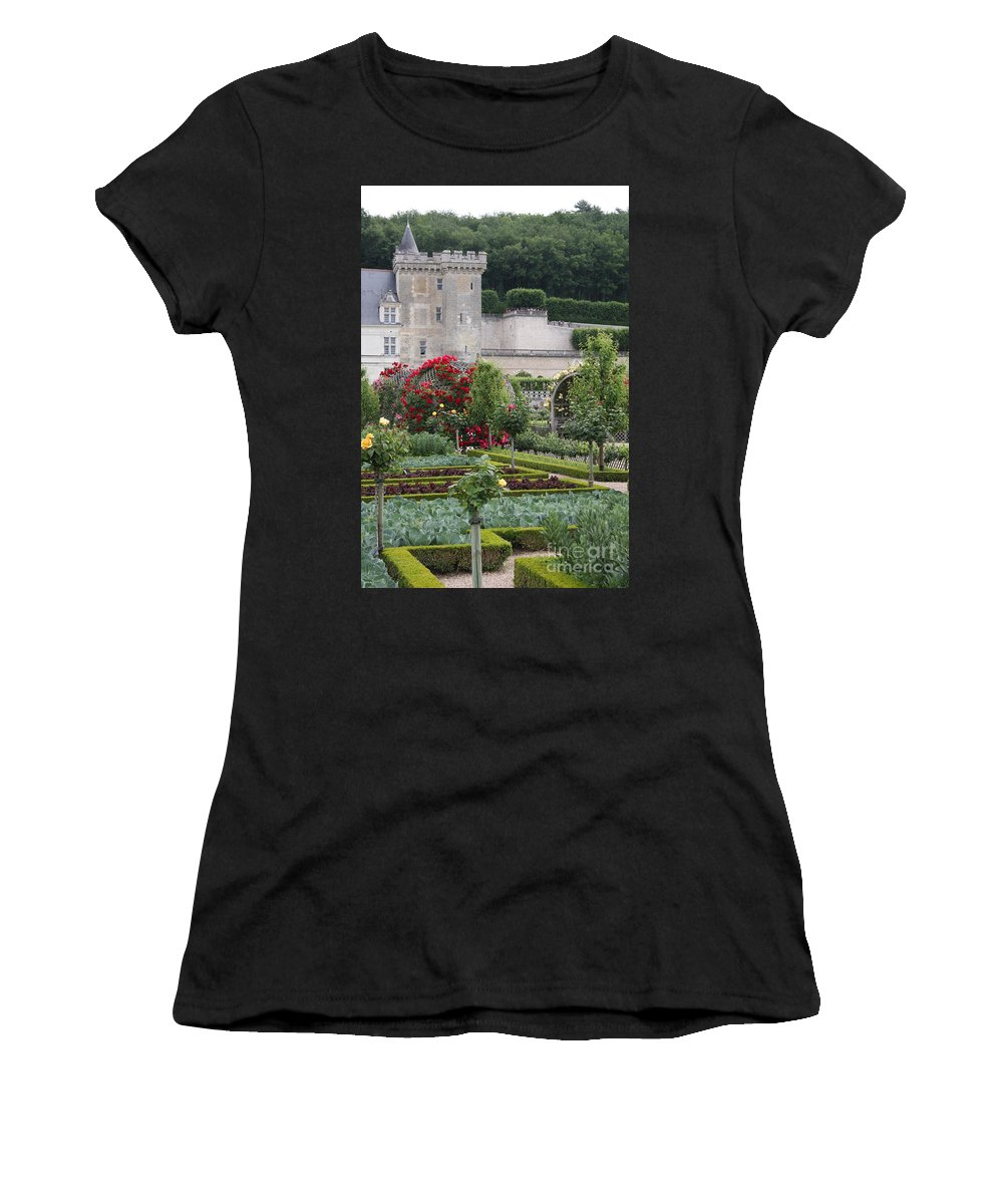 Palace Women's T-Shirt (Athletic Fit) featuring the photograph Chateau Villandry And The Cabbage Garden by Christiane Schulze Art And Photography