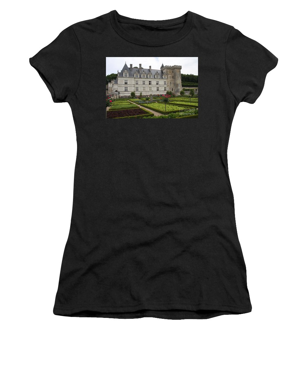 Salad Women's T-Shirt (Athletic Fit) featuring the photograph Chateau Villandry - Usefulness And Ornament by Christiane Schulze Art And Photography
