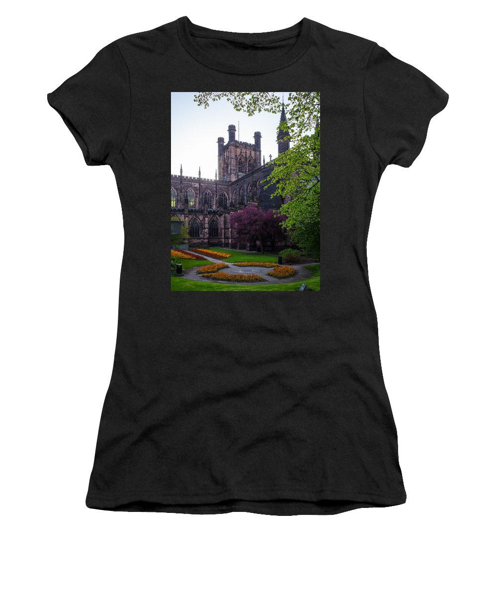 Canvas Women's T-Shirt (Athletic Fit) featuring the photograph Chester Cathedral by Mark Llewellyn