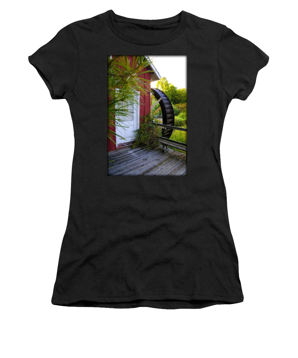 Kimberton Women's T-Shirt featuring the photograph Chester County's Kimberton Mill by Bill Cannon