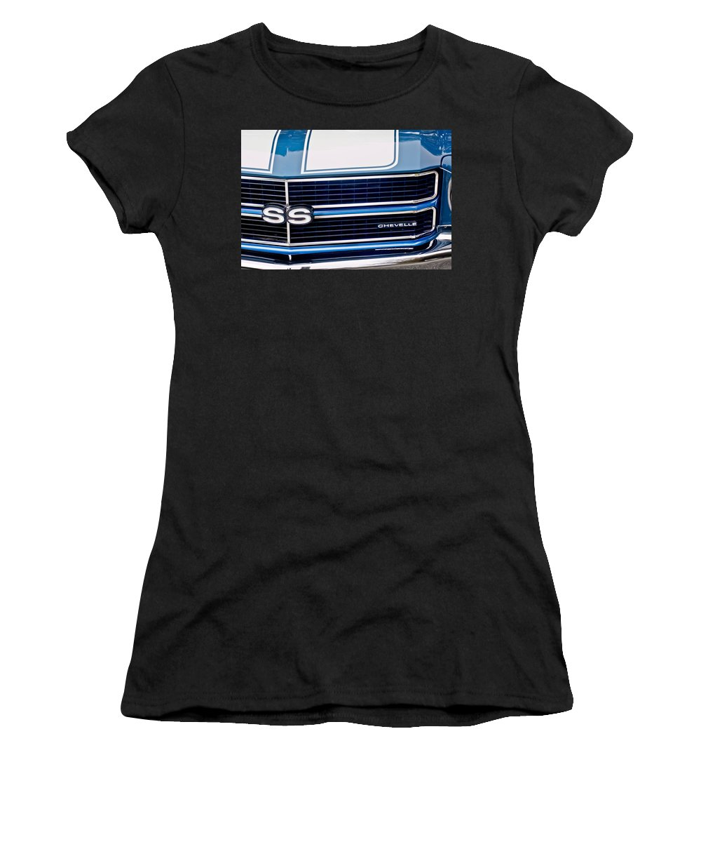 Chevrolet Chevelle Ss Emblem Women's T-Shirt featuring the photograph Chevrolet Chevelle Ss Grille Emblem 2 by Jill Reger